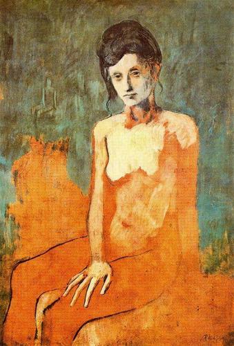 Pablo Picasso, Femeie sezand